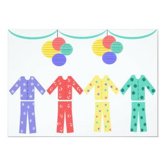 Pajamas In A Row Pajama Party Invites