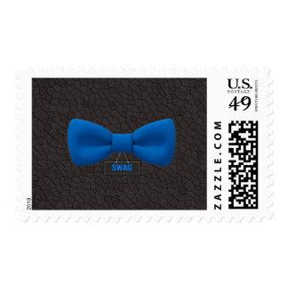Pajarita azul del Swag lindo Sellos Postales