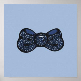 Pajarita azul impresiones