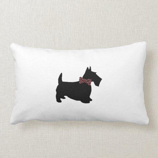 Pajarita de la tela escocesa del perro del escocés almohadas