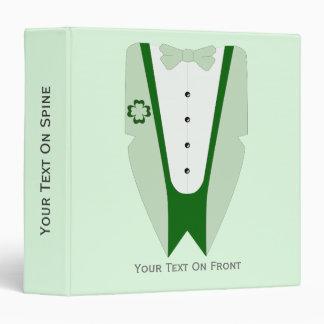"Pajarita verde irlandesa de la camisa de la carpeta 1 1/2"""
