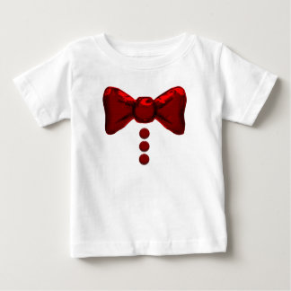 Pajarita y camiseta rojas lindas de los botones remera
