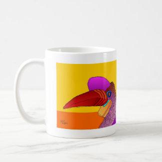 pájaro 17. taza de café