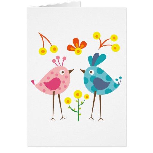 pájaro 1 del polkadot tarjeta de felicitación