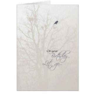 Pájaro 3519 en cumpleaños de la recuperación del tarjeta de felicitación