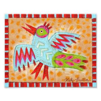 Pájaro abstracto del arte popular del zigzag fotografía
