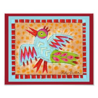 Pájaro abstracto del azul del zigzag fotografías