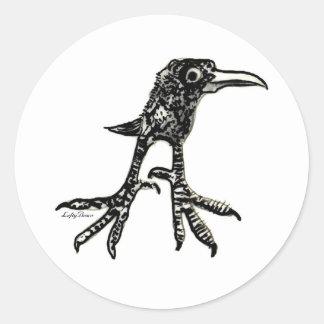 Pájaro adolescente etiqueta redonda