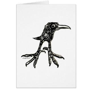 Pájaro adolescente tarjeta de felicitación