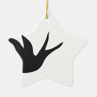 Pájaro Adorno Navideño De Cerámica En Forma De Estrella