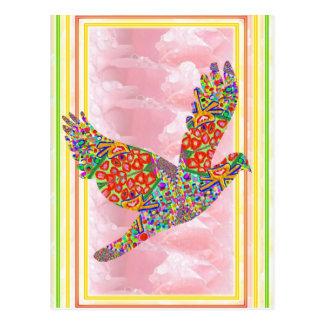Pájaro AFORTUNADO del ángel Tarjetas Postales