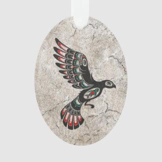 Pájaro agrietado y gastado del alcohol del Haida d
