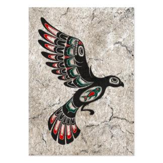 Pájaro agrietado y gastado del alcohol del Haida d Tarjeta De Visita