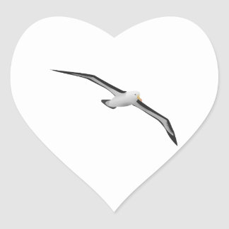 Pájaro altísimo del albatros pegatina en forma de corazón
