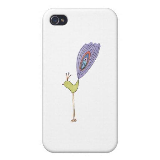 Pájaro alto del DDD iPhone 4/4S Carcasas