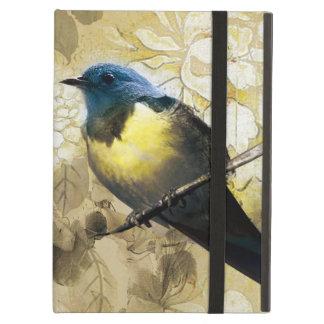 Pájaro amarillo azul del tordo - arte de la pintur
