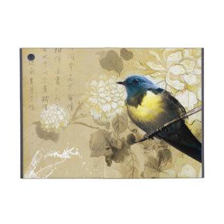 Pájaro amarillo azul del tordo - arte de la pintur iPad mini protector
