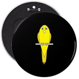 Pájaro amarillo. Canario. En negro Pins
