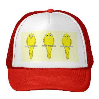 Pájaro amarillo. Canario Gorros Bordados