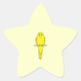 Pájaro amarillo. Canario Pegatina En Forma De Estrella