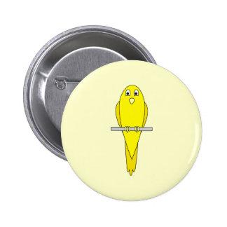 Pájaro amarillo. Canario Pin