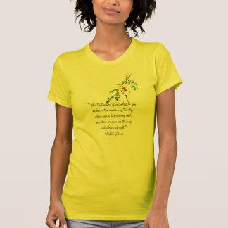Pájaro amarillo de la bendición de la primavera playeras