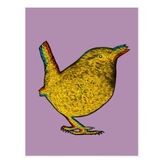 Pájaro amarillo del Rad Postales