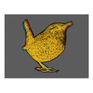Pájaro amarillo del Rad Tarjetas Postales