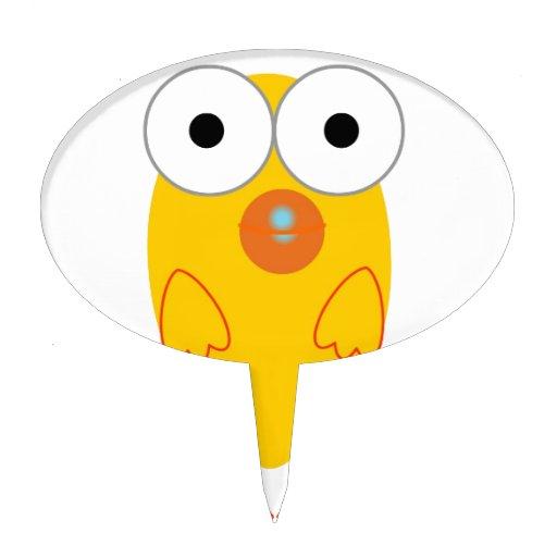 Pájaro amarillo divertido decoración para tarta