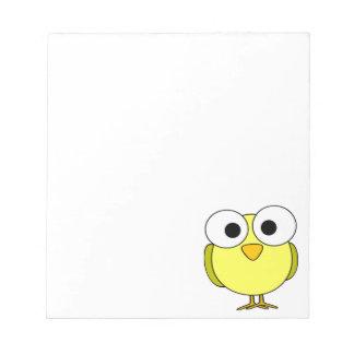 Pájaro amarillo observado grande blocs de papel