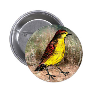 Pájaro amarillo pin