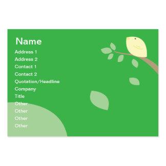 Pájaro amarillo - rechoncho tarjeta de visita