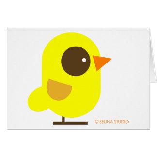 Pájaro amarillo tarjeta de felicitación