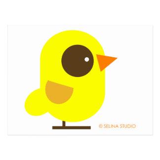 Pájaro amarillo tarjeta postal