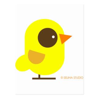 Pájaro amarillo tarjetas postales
