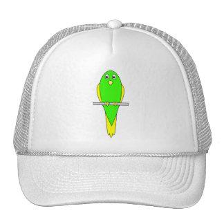 Pájaro amarillo y verde. Parakeet Gorras De Camionero