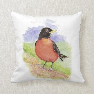 Pájaro americano del jardín del petirrojo de la ac almohadas