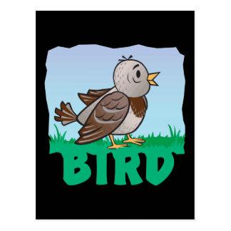 Pájaro amistoso del niño tarjetas postales