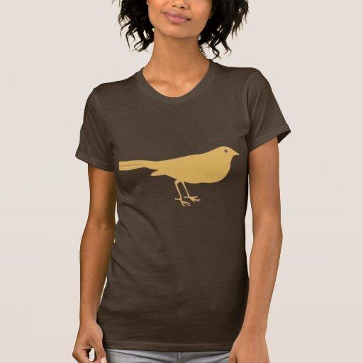 Pájaro anaranjado camiseta