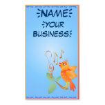 Pájaro anaranjado del canto profilecard_business_v plantilla de tarjeta personal