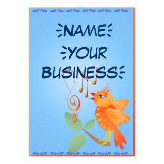 Pájaro anaranjado del canto tarjetas de visita grandes
