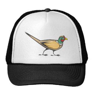 Pájaro Anillo-necked feliz del faisán Gorro De Camionero