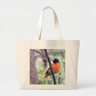 Pájaro animal Baltimore Oriole Bolsa Tela Grande