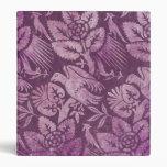 Pájaro apenado vintage y carpeta floral - ciruelo