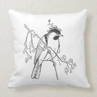 Pájaro apuesto del vintage almohada