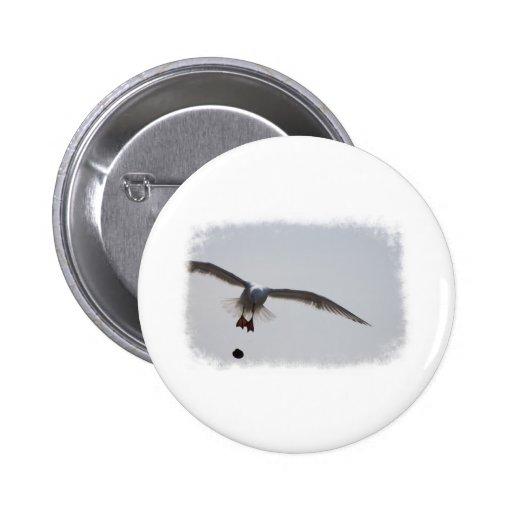 Pájaro ausente de las bombas pins