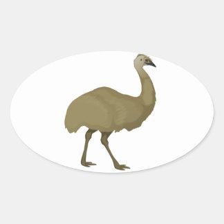 Pájaro australiano del Emu Calcomanía De Oval Personalizadas