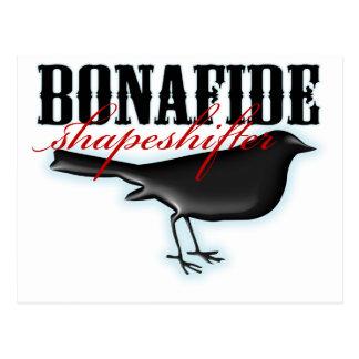 pájaro auténtico del shapeshifter tarjetas postales