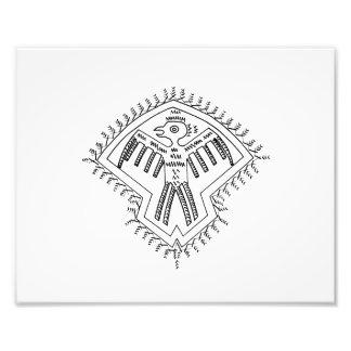 Pájaro azteca drawing.png dentado del estilo del v impresion fotografica