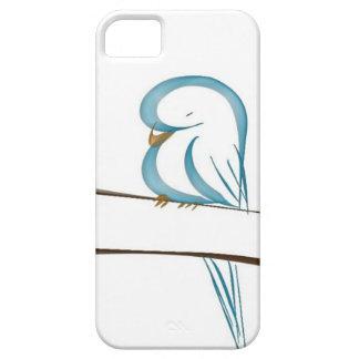 Pájaro azul adorable que se sienta en una rama funda para iPhone SE/5/5s